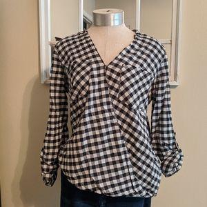 Michael Kors gingham blouse